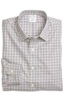 Brooks Brothers Non Iron Slim Fit Mini Check Sport Shirt - Lyst