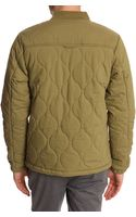 La Panoplie Khaki Quilted Bomber Jacket - Lyst