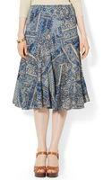 Lauren by Ralph Lauren Patchworkprint Midi Skirt - Lyst