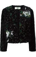 Fendi Velour Embellished Jacket - Lyst