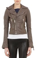 Balenciaga Lambskin Leather Moto Jacket - Lyst