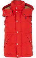 Polo Ralph Lauren Padded Gilet with Detachable Hood - Lyst