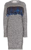 Marni Embellished Woolblend Dress - Lyst