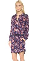 Veronica Beard Floral Batik Print Keyhole Shirtdress Plum Multi - Lyst