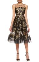 Oscar de la Renta Lace-embroidered A-line Dress - Lyst