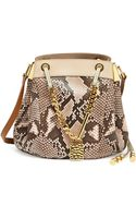 Chloé Camille Small Python Crossbody Bag Pink - Lyst