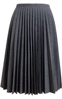 J.W. Anderson Pleated Cotton Skirt - Lyst