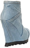 Camilla Skovgaard 120mm Washed Denim Wedge Ankle Boots - Lyst