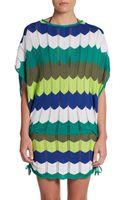 Trina Turk Zigzag Colorblock Coverup Tunic - Lyst