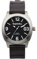 Superdry Unisex Thor Midi Black Leather Strap Watch 39mm Iww - Lyst