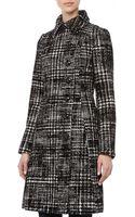 ABS By Allen Schwartz Wool Check Aline Coat - Lyst
