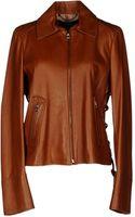 Ferragamo Leather Outerwear - Lyst
