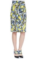 Erdem Frida Printed Pencil Skirt - Lyst