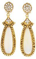 Jose & Maria Barrera Motherofpearl Elongated Clip Earrings - Lyst