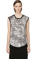 Helmut Lang Black and White Printed Tank Top - Lyst