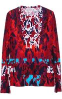 Peter Pilotto Water Orchid Long Sleeve Top - Lyst
