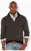 Polo Ralph Lauren Herringbone Half-zip Sweater - Lyst