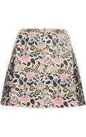 Topshop Petite Garden Floral Pelmet Skirt Multi - Lyst