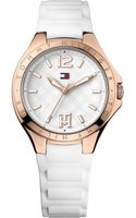 Tommy Hilfiger Womens White Silicone Strap Watch 38mm - Lyst