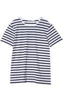 T By Alexander Wang Striped Linen Cotton Tee - Lyst