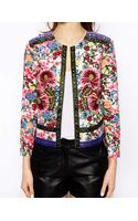 Asos Jacket with Statement Floral Embroidery - Lyst