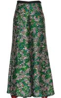 Missoni Printed Techno Satin Palazzo Trousers - Lyst