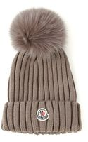Moncler Ribbed Knit Beanie - Lyst