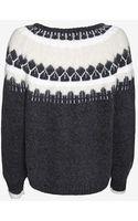 J Brand Intarsia Alpaca Sweater - Lyst