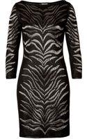 Roberto Cavalli Wool Blend Intarisa Knit Dress - Lyst