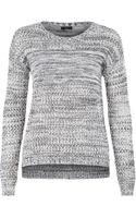 Dex Marled Mix Stitch Sweater - Lyst