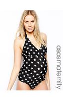 Asos Maternity Exclusive Swimsuit in Star Print - Lyst