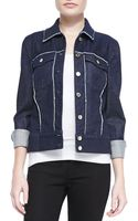 7 For All Mankind Rawedge Contrast Denim Jacket - Lyst