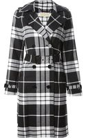 Michael Kors Plaid Trench Coat - Lyst