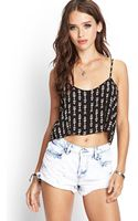 Forever 21 Tribal Inspired Crop Top - Lyst