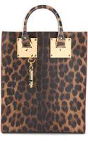Sophie Hulme Mini Leopard Print Tote - Lyst