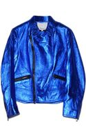 3.1 Phillip Lim Cobalt Boxy Motorcycle Jacket - Lyst