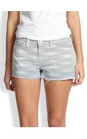 J Brand Dotprint Cutoff Denim Shorts - Lyst