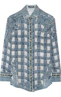 Balmain Printed Silkcrepe Shirt - Lyst