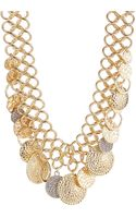 R.j. Graziano Hammered Circular Charm Collar Necklace - Lyst