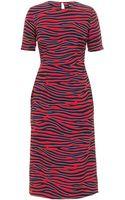 House Of Holland Silk Zebra Dress - Lyst