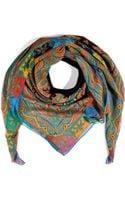 Etro Printed Silk Scarf - Lyst