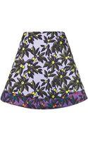 Topshop Berry Print Skater Skirt - Lyst