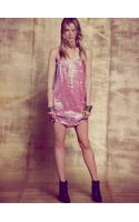Free People Iridescent Sequins Slip Dress - Lyst