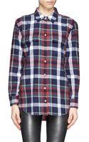 Equipment Signature Tartan Check Plaid Cotton Shirt - Lyst