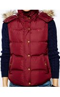 Jack Wills Padded Gilet with Faux Fur Trimmed Hood - Lyst