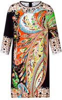 Etro Silk Paisley Print Dress - Lyst
