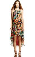 Nicole Miller Printed Halter Hilo Dress - Lyst