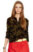 Polo Ralph Lauren Camo Cotton Henley Shirt - Lyst