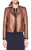 Akris Punto Metallic Microperforated Moto Jacket - Lyst
