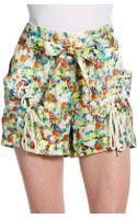 Rebecca Minkoff Vincent Floral Silk Shorts - Lyst